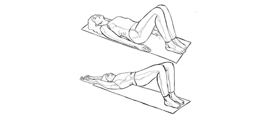 exercice de la planche inversée