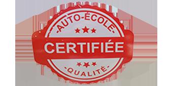 logo auto-école certifié